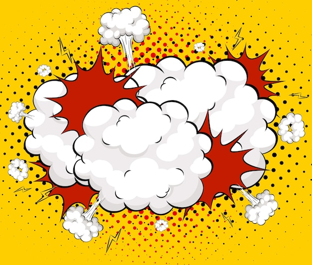 Leere boom-comic-sprechblase