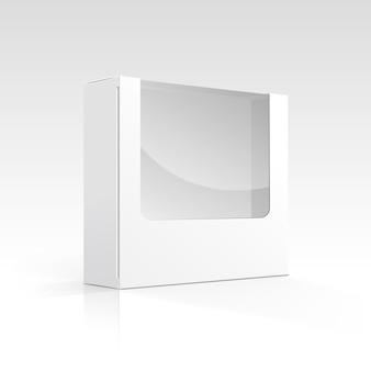 Leere box mit transparentem fenster