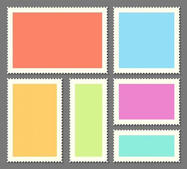 Leere briefmarken für post, postkarte.