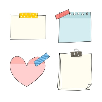Leere briefpapiersammlung