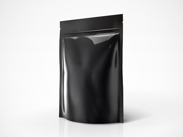 Leere doy-packung, schwarze farbpackung zur verwendung in der illustration