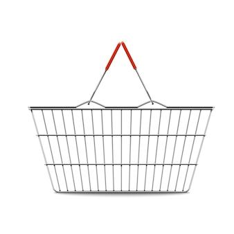 Leere einkaufskorb realistische illustration
