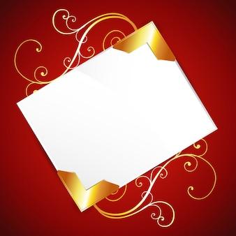 Leere einladung auf rot
