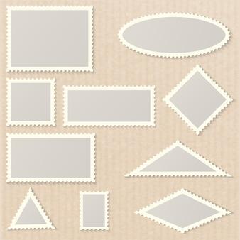 Leere formen von briefmarken