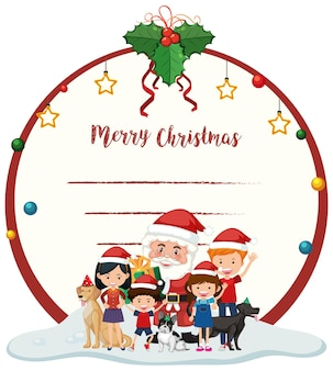 Leere frohe weihnachten kartenvorlage