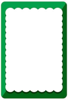 Leere grüne lockenrahmenfahnenschablone