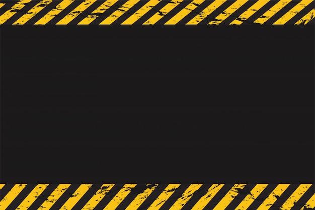 Leere hintergrundwarnung mit polizeilinie.