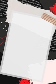Leere instant-fotorahmen-collage