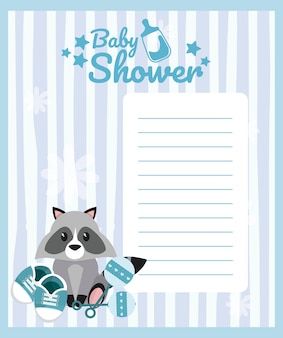 Leere karte der babyparty