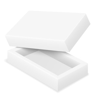 Leere kartonverpackung leere vorlage