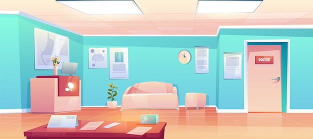 Leere klinik korridor innenraum