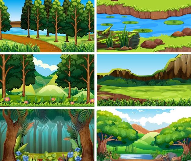 Leere landschaftsnaturszenen