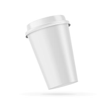 Leere leere kaffeetasse isoliert.