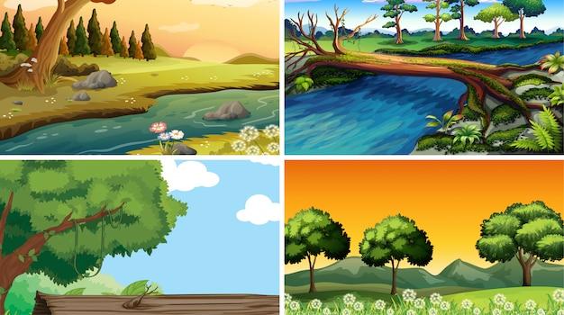 Leere, leere landschaftsnaturszenen