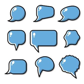 Leere leere sprechblasen
