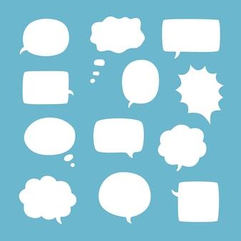 Leere leere weiße sprechblasen