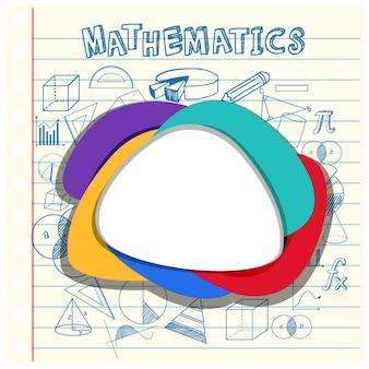 Leere mathematische vorlage mit mathematischen werkzeugen und elementen