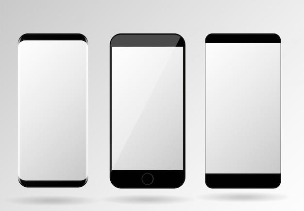 Leere mobiltelefone bildschirmmodell