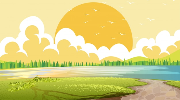 Leere naturstrandozean-küstenlandschaft