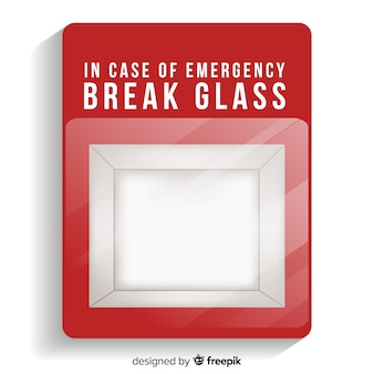 Leere notfallbox design