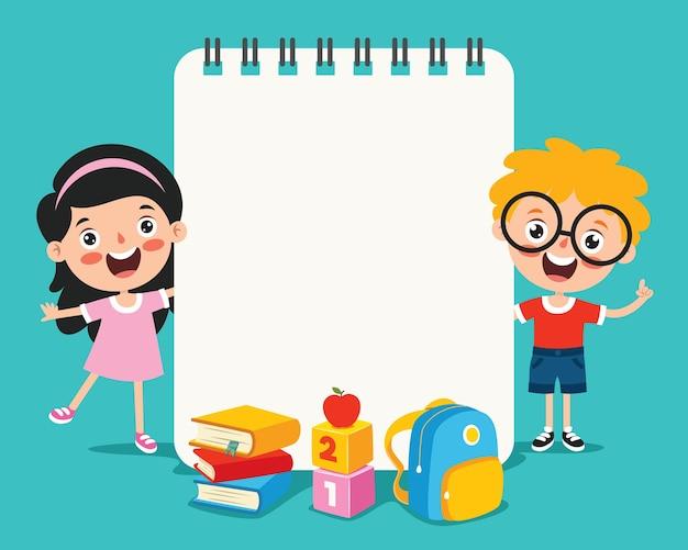 Leere notizpapiere für die kindererziehung