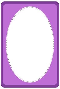 Leere ovale bannervorlage