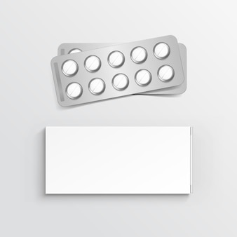 Leere packbox für blister of pills