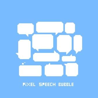 Leere pixel sprechblasen festgelegt.