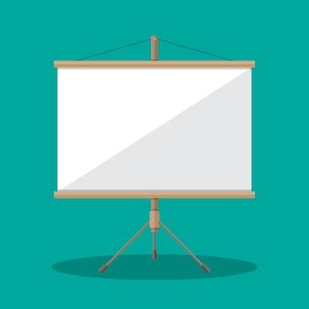 Leere projektionsfläche, präsentationstafel