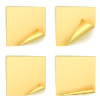 Leere quadratische aufkleber mit lockensätzen