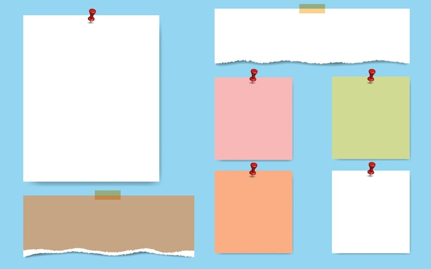 Leere quadratische notizblockseiten und tesafilm