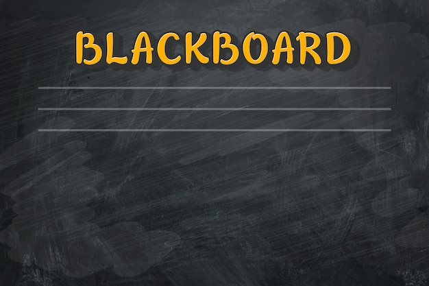 Leere retro- klassentafel mit kreidestücken.
