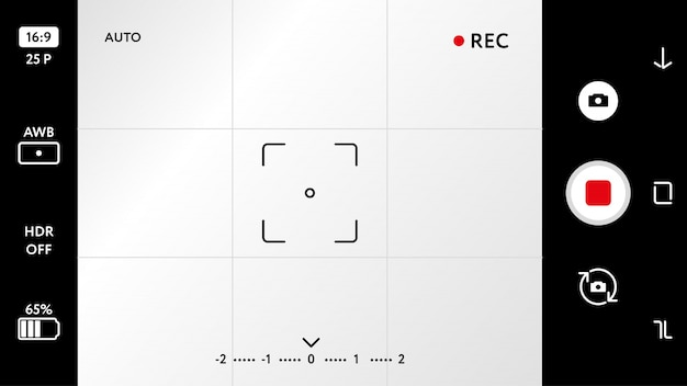 Leere smartphone kamera mattscheibe