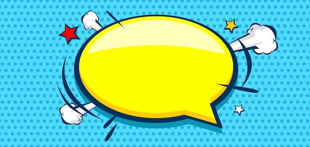 Leere sprechblase auf comic-hintergrund
