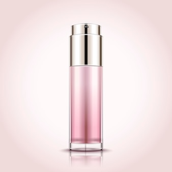 Leere sprühflasche, kosmetikbehältermodell s in der 3d-illustration