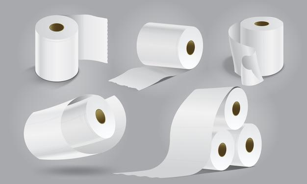 Leere toilettenpapiere