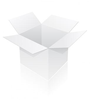 Leere verpackungsbox vektor-illustration