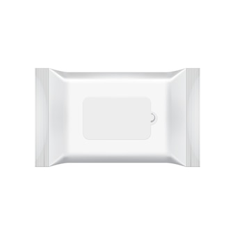 Leere verpackungsschablone lokalisiert auf weiß.