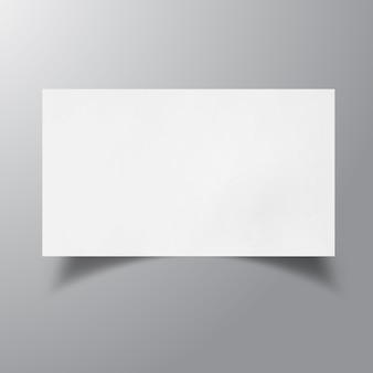 Leere visitenkarte mock-up
