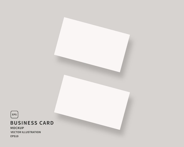 Leere visitenkarte. von zwei horizontalen visitenkarten.