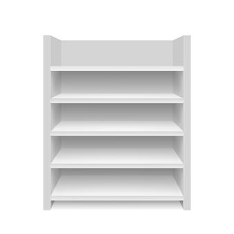 Leere vitrine. abbildung isoliert. grafikkonzept für ihr design