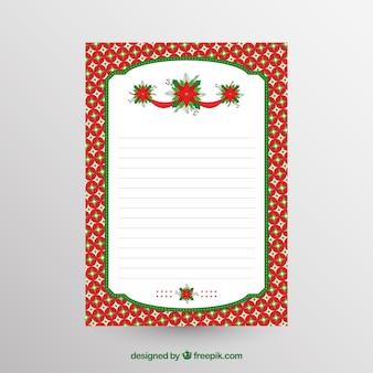 Leere weihnachtsbriefschablone