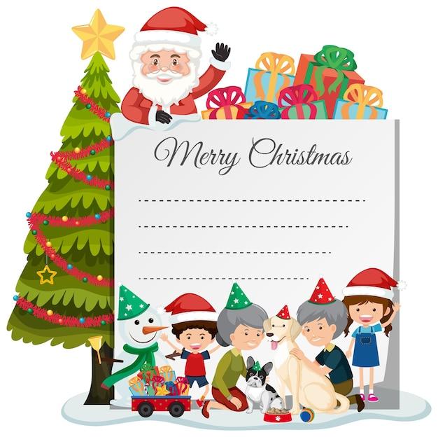 Leere weihnachtsnotizvorlage