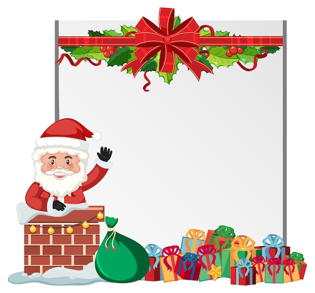 Leere weihnachtsrahmenvorlage