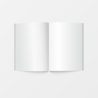 Leere weiße farbe der broschüre für das drucken