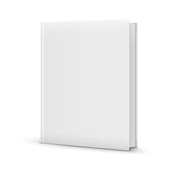 Leere weiße stehende buchvorlage