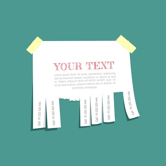 Leere werbung mit einem platz für ihren text auf einem türkisfarbenen hintergrund.