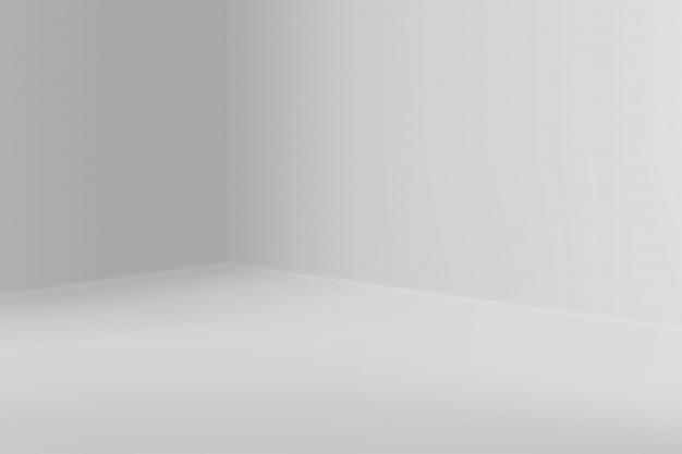 Leerer ausstellungsraum mit quadratischer ecke
