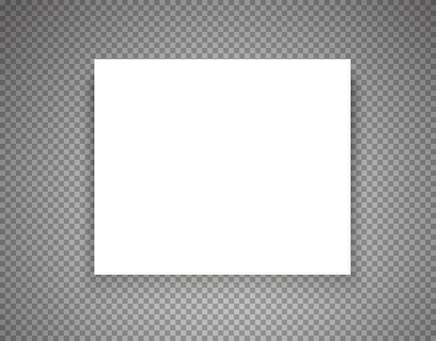 Leerer bilderrahmen auf transparentem