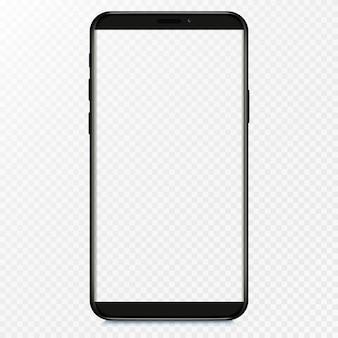 Leerer bildschirm des smartphones, telefon. vorlage für die benutzeroberfläche für infografiken oder präsentations-ui.